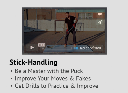 Stick-handling training